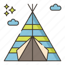 camping, campsite, outdoor, tent icon