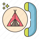 camping, campsite, reservation, telephone