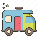 camping, car, outdoor, travel, vehicle icon
