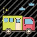 camping, caravan, transport, travel