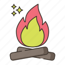 bonfire, camping, firewood, wood icon