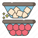 containers, cooking, food, fruit icon