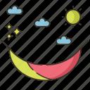 camping, hammock, summer, swing icon