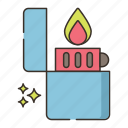 fire, flame, light, lighter icon