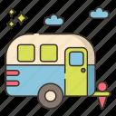 camping, outdoor, park, rv icon