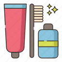 camping, hygiene, toiletries, toothbrush icon