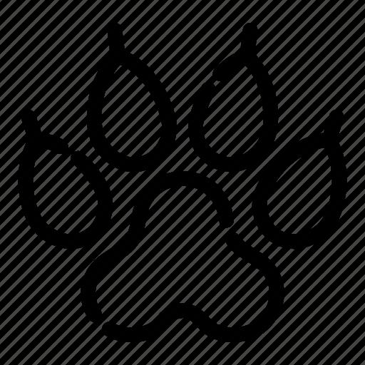 animal, camping, footprint, hiking, paw, tourism, track icon