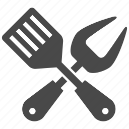 bbq, cutlery, fork, grill, kitchen, knife, utensil icon