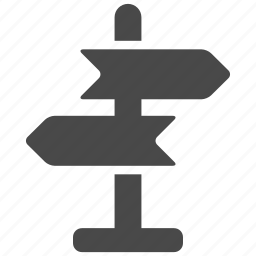 arrow, arrows, camp, direction, hiking, navigation, sign icon