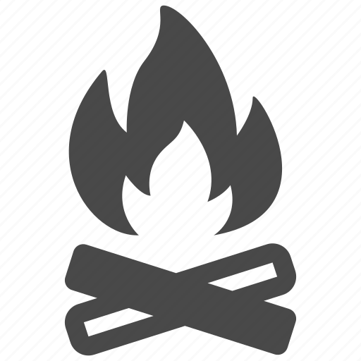 burn, fire, flame, hot, light, outdoor, tent icon