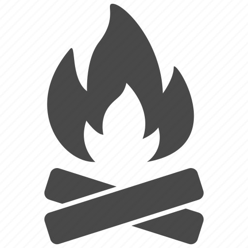 burn, camp, fire, flame, hot, light, outdoors icon