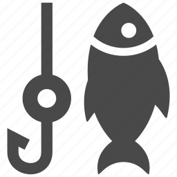 fish, fishing, hook, nature, rod, sea, water icon