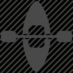 boat, canoe, kayak, oar, paddle, sport, water icon