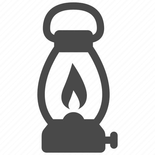 bulb, camping, lamp, light, oil, outdoor, petrol icon