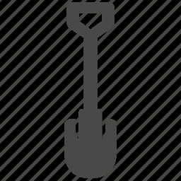 building, construction, equipment, gardening, shovel, spade, tool icon
