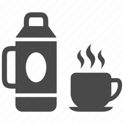 coffee, cup, drink, kettle, tea, thermos icon