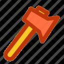 axe, camp, camping, fun, holiday icon
