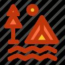 camp, camping, fun, holiday icon