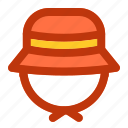 camp, camping, fun, hat, holiday, panama icon