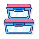 box, containers, food icon