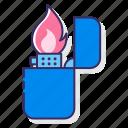 fire, flame, lighter