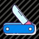 camping, knife, pocket, swiss knife