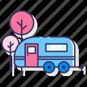 camping, park, rv, vehicle