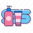 camping, hygiene, soap, toiletries icon