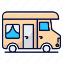 bus, camper, camping, rv
