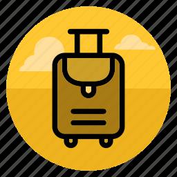bag, baggage, case, goods, luggage, transportation, travel icon
