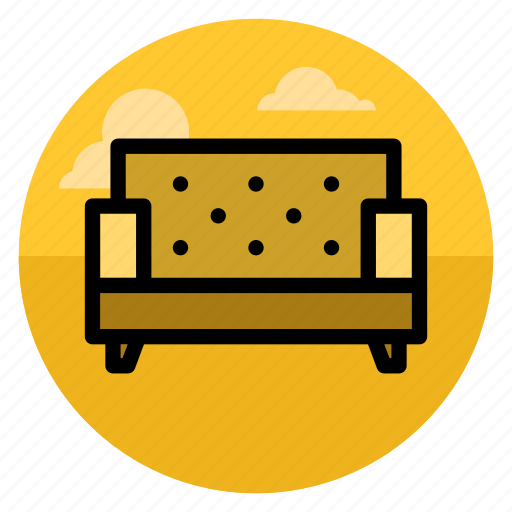 chair, furniture, home, interior, lifestyle, seat, sofa icon