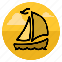 boat, cruise, sail, ship, shipping, travel, yacht icon