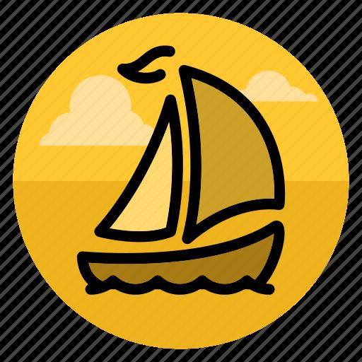 boat, cruise, sail, ship, shipping, travel, yacht icon
