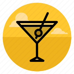 cocktail, drink, glass, martini, nightlife, party, wine icon