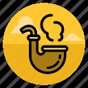 cigarette, hipster, pipe, smoke, smoking, style, tobacco icon