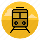 rail, railroad, railway, road, train, tram, transport icon