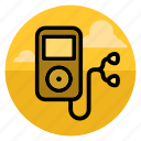 device, ipod, music, player, sound, speaker, volume icon