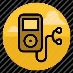 device, ipod, music, player, sound, speaker, volume icon