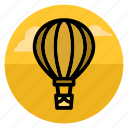 aerostat, air balloon, aircraft, flight, flying, transport, travel icon