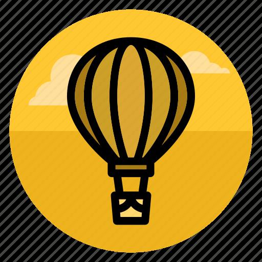 aerostat, air balloon, aircraft, flight, flying, transport, travel icon