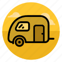 automobile, car, caravan, home, house, mobile home, trailer icon