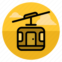 aerial, cableway, elevator, lift, lifter, mountain, ropeway icon