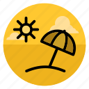 beach, resort, summer, sun, travel, umbrella, vacation icon