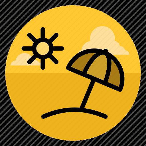 beach, resort, summer, sun, travel, umbrella, vacation icon