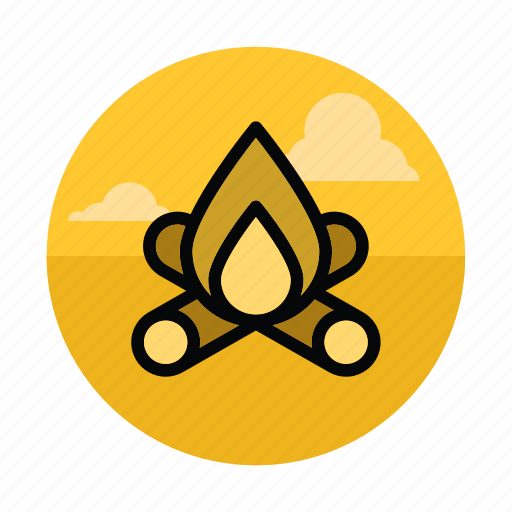adventure, camp, campfire, camping, fire, outdoors, travel icon
