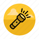 camping, electric, flashlight, lamp, light, night, torch icon