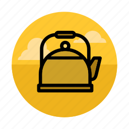 beverage, camping, drink, kettle, kitchen, outdoors, teapot icon