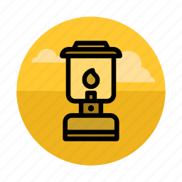 camping, fire, gaslight, lamp, light, night, outdoors icon