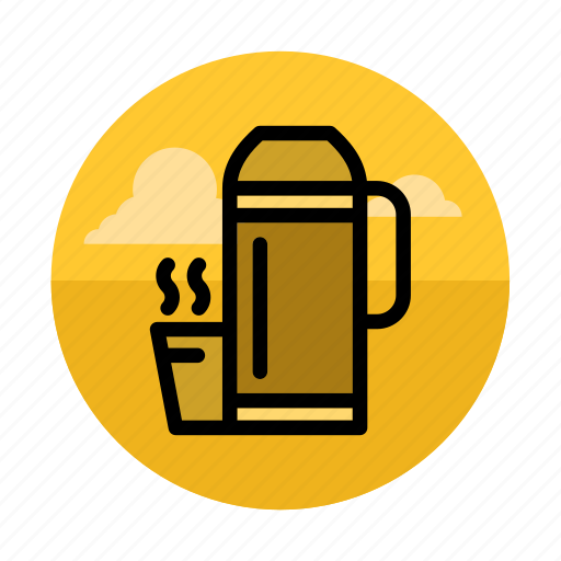 beverage, camping, cup, drink, outdoor, thermos, traveling icon