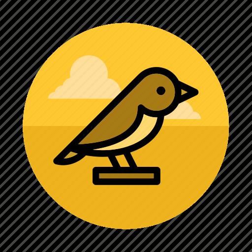 animal, bird, forest, nature, scarecrow, tweet, wild icon